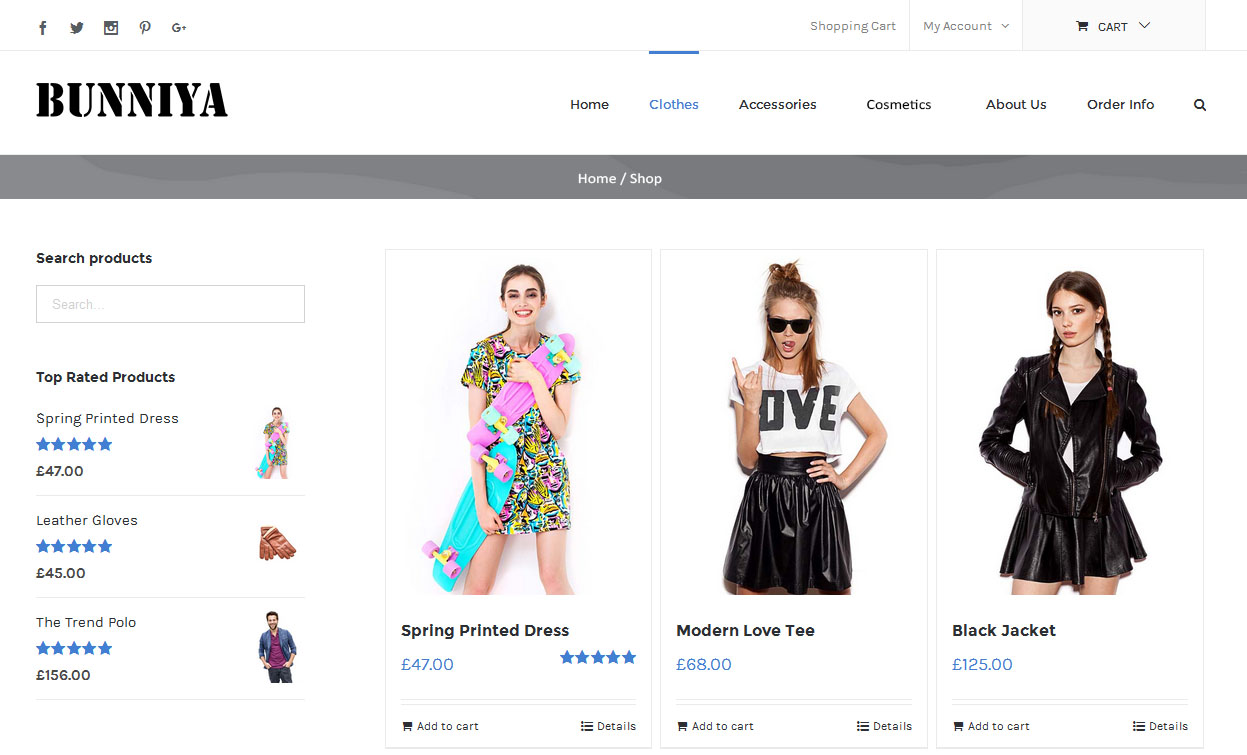 Web Design and SEO for Online Clothing Store